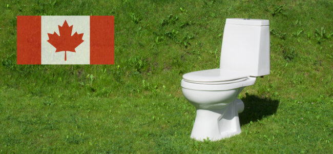 septic system guide with canadian flag